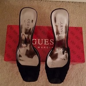 Guess By Marciano Black Suede Mules